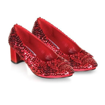 Pleaser Shoes 185857 Judy- Red Sequin Child Shoes