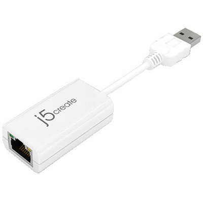 J5 Create JUE120 USB 2.0 Ethernet Adapter - 10/100 MBPS, RJ-45, USB 2.0 - JUE120