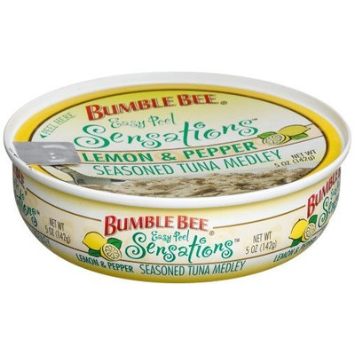 Bumble Bee Sensations, Lemon & Pepper Tuna Medley, 5-Ounce Cans (Pack of 6)