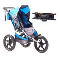 BOB Sport Utility Stroller with Fixed Wheel & FREE Handlebar Console, Blue, 1 ea