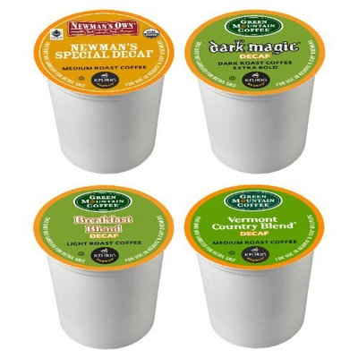 Green Mountain Coffee Decaf Variety Sampler Pack, 22 ct K-Cups