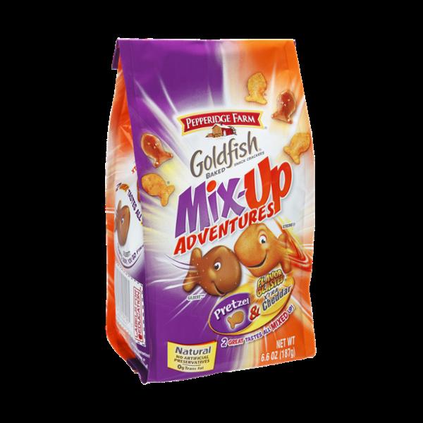 Pepperidge Farm Goldfish Mix-Up Adventures Pretzel & Xtra Cheddar Baked Snack Crackers