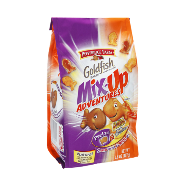 Goldfish® Mix-up Adventures Pretzel & Xtra Cheddar Baked Snack Crackers