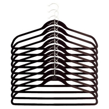 Joy Mangano Huggable Hangers 10-pk Suit Hangers - Black