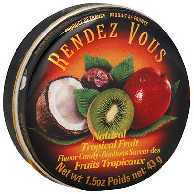 Rendezvous Rendez Vous Tropical Fruit Candy, 1.5 oz (Pack of 12)