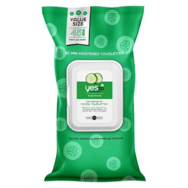 Yes To Cucumbers Hypoallergenic Facial Towelettes - 45 Ct