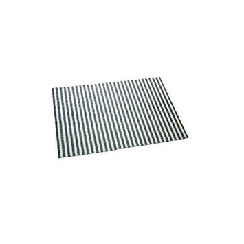 Cats Rule Perfect Litter Mat Black & White Stripe