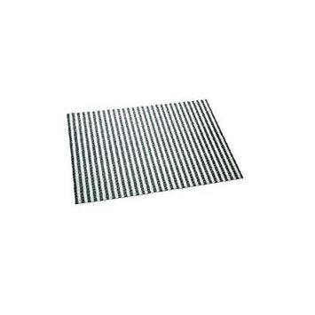 Cats Rule Perfect Litter Mat Black & White Stripe
