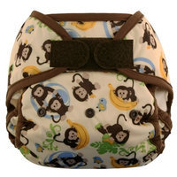 Blueberry Coveralls Diaper Cover Hook/Loop, Monkeys