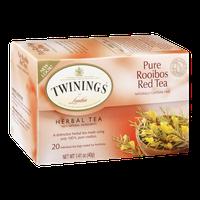 Twinings of London Herbal Tea Pure Rooibos Red Tea - 20 CT