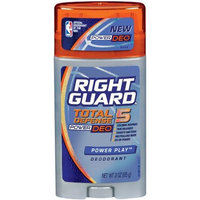 Right Guard Total Defense 5 Power Deodorant, Power Play, 3-Ounce Units (Pack of 6)