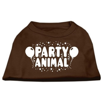 Ahi Party Animal Screen Print Shirt Brown XXXL (20)