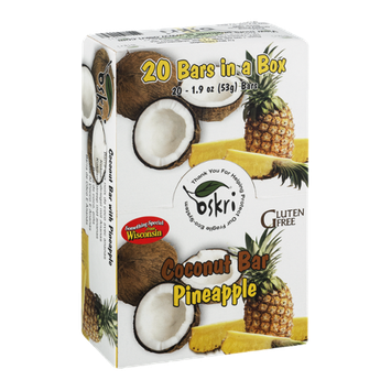 Oskri Coconut Bar Pineapple - 20 CT
