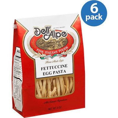 Generic Dell' Alpe Fettuccine Egg Pasta, 8 oz, (Pack of 6)