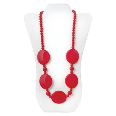 Nixi by Bumkins Pietra Silicone Teething Necklace - Red