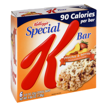 Special K® Kellogg Calories Peaches & Berries Cereal Bars