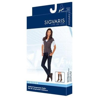Sigvaris 230 Cotton Series 30-40 mmHg Women's Closed Toe Knee High Sock Size: Small Short, Color: Crispa 66