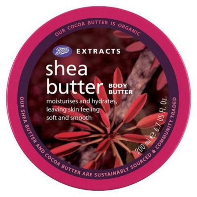 Boots Extracts Shea Butter Body Butter - 6.7 oz