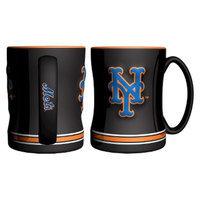 Boelter Brands MLB Mets Set of 2 Relief Coffee Mug - 14oz