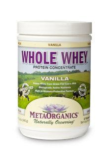 Whole Whey - Vanilla MetaOrganics 12 oz Powder