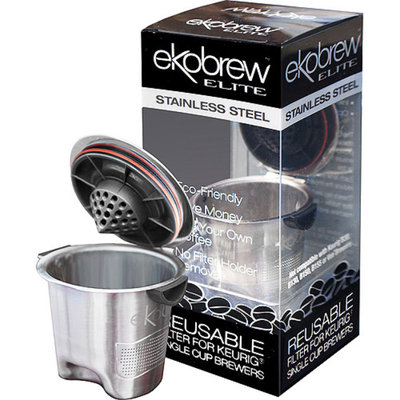 EkoBrew Stainless Steel Elite Refillable K-Cup for Keurig K-Cup Brewers