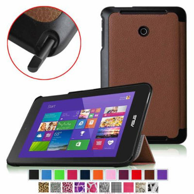 Fintie Slim Shell Case Ultra Slim Lightweight Stand Cover for ASUS Vivo Tab Note 8 M80TA Windows 8.1 Tablet, Brown