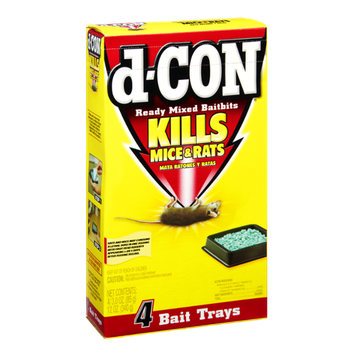 D-Con Ready Mixed Baitbits Kills Mice & Rats Bait Trays - 4 CT