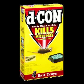 D-Con Ready Mixed Baitbits Kills Mice & Rats Bait Trays - 4 CT