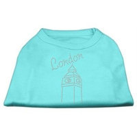 Mirage Pet Products 5243 MDAQ London Rhinestone Shirts Aqua M 12