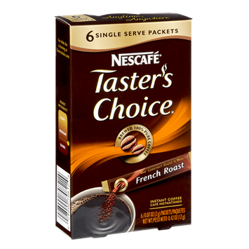 Nescafe Taster's Choice French Roast Instant Coffee Packets