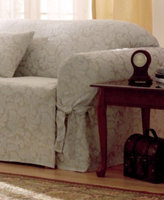 Sure Fit Scroll Wing Chair Slipcover Bedding
