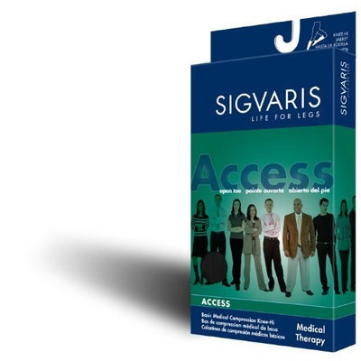 Sigvaris Access Knee High 20-30mmHg Women's Closed Toe Short Length, Medium Short, Crispa