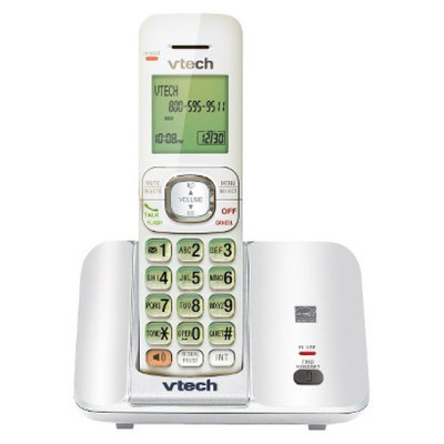 VTech DECT 6.0 Cordless Phone System (CS6519W) with Caller ID and