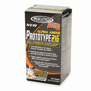 MuscleTech Alpha Amino Prototype 216 Dietary Supplement Caplets