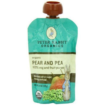 PETER RABBIT ORGANICS 100% Fruit Snack, Pear and Pea, 4.4-Ounce (Pack of 10)