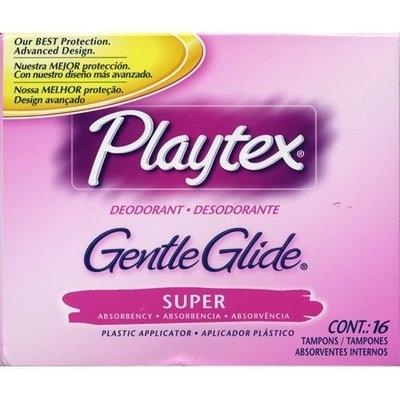 Playtex Deodorant Gentle Glide Super Absorbency Tampons, 16 Each
