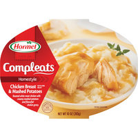 Hormel : Chicken Breast & Gravy w/Mashed Potatoes Compleats Microwave Bowls