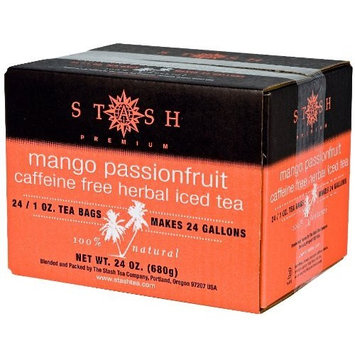 Stash Tea Company Stash Tea Mango Passionfruit Herbal Tea, 1 Ounce Iced Tea Brew Bags (Pack of 24)