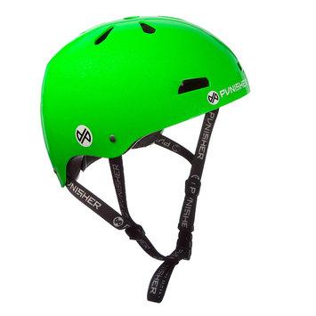 Punisher Skateboards 13-vent Bright Neon Green Youth BMX/ Skateboard Helmet