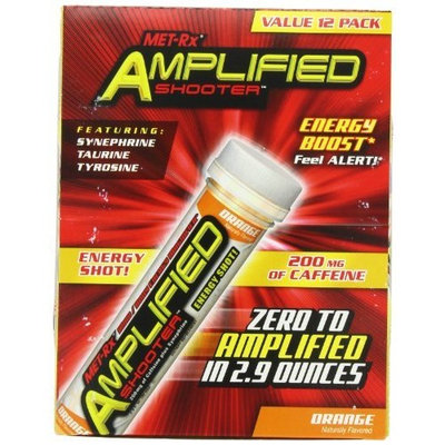 MET-Rx Amplified Energy Shooter Orange 2.9-Ounces( pack of 12)