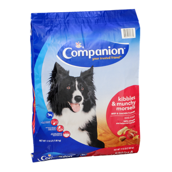 Companion Dog Food Kibbles & Munchy Morsels Beef & Chicken