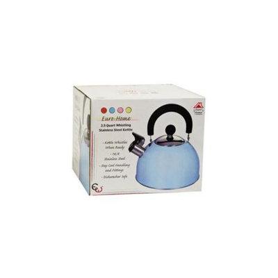 Bulk Buys 2. 5 Qt Whistling S-S Tea Kettle - Light Blue - Pack of 8