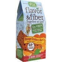 Gnu Foods Flavor and Fiber Bars Orange Cranberry -- 5 Bars