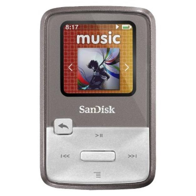 SanDisk Sansa Clip Zip 8GB MP3 Player - Grey (SDMX22-008G-A57G)