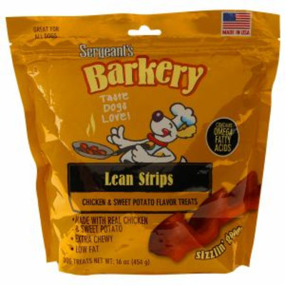 Barkery Lean Strips, Chicken & Sweet Potato, 16 oz
