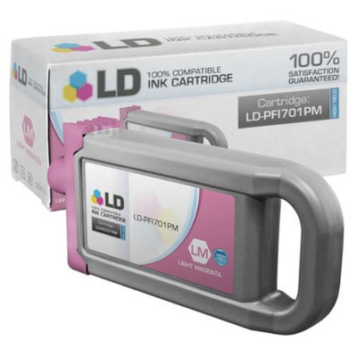 LD Compatible Replacement for Canon PFI-701PM HY Photo Magenta Pigment Inkjet Cartridge for use in Canon imagePROGRAF iPF8000, iPF8000s, iPF8100, iPF9000, iPF9000s & iPF9100