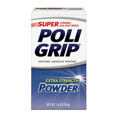 Super Poligrip Extra Strength Denture Adhesive Powder