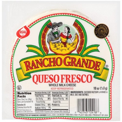 Rancho Grande Whole Milk Fresco Queso Cheese, 10 oz
