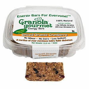 Granola Gourmet Spiced Orange Cranberry ORIGINAL Energy Bars