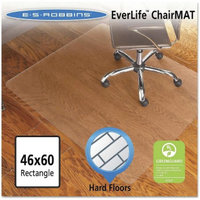 ES Robbins Economy Series Rectangle Chair Mat for Hard Floors -